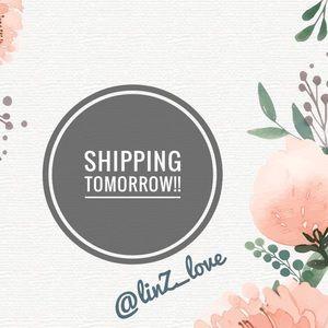 SHIPPING TOMORROW